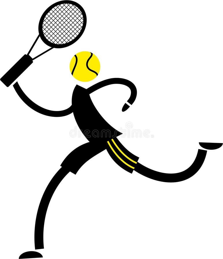 Tennis star royalty free illustration