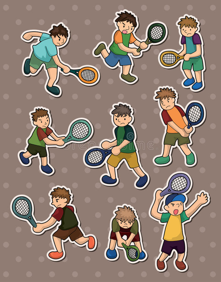 Download Tennis stickers stock vector. Image of campaign, activity - 24800217