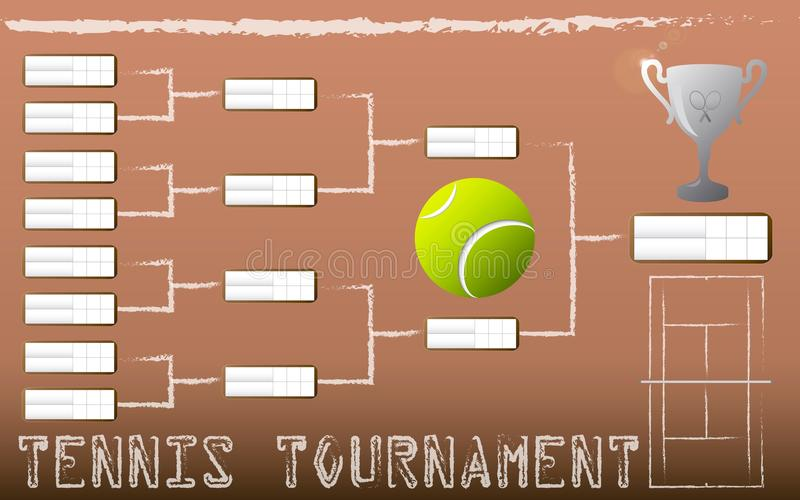 Tennis Tournament Bracket royalty free illustration