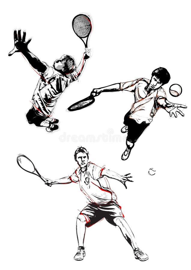 Tennis Trio Stock Photo