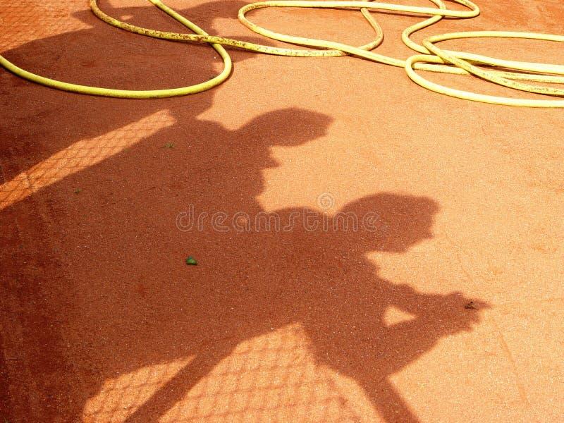 tennis watchers stock image