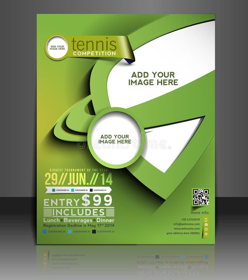 Tennis-Wettbewerbs-Flieger-Design lizenzfreie abbildung