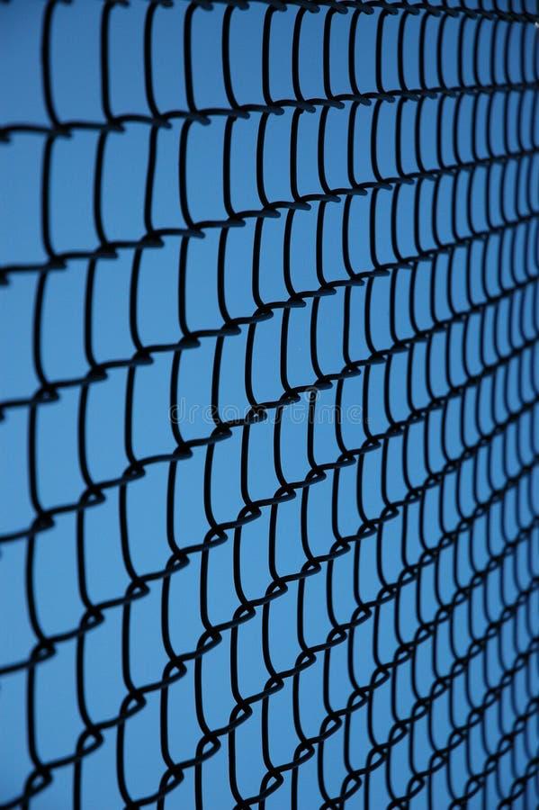 Tennis-Zaun-Nahaufnahme stockfoto