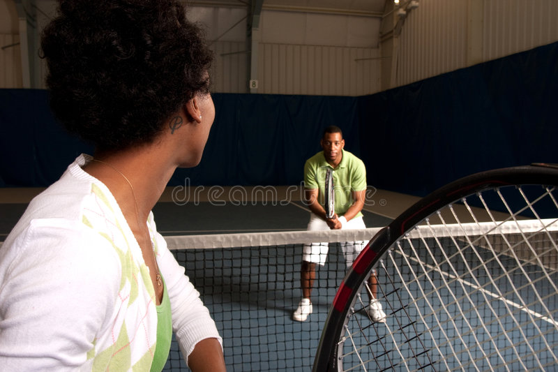 Tennisabgleichung stockfotografie