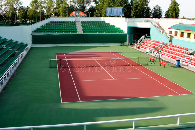 Tennisarena lizenzfreies stockbild