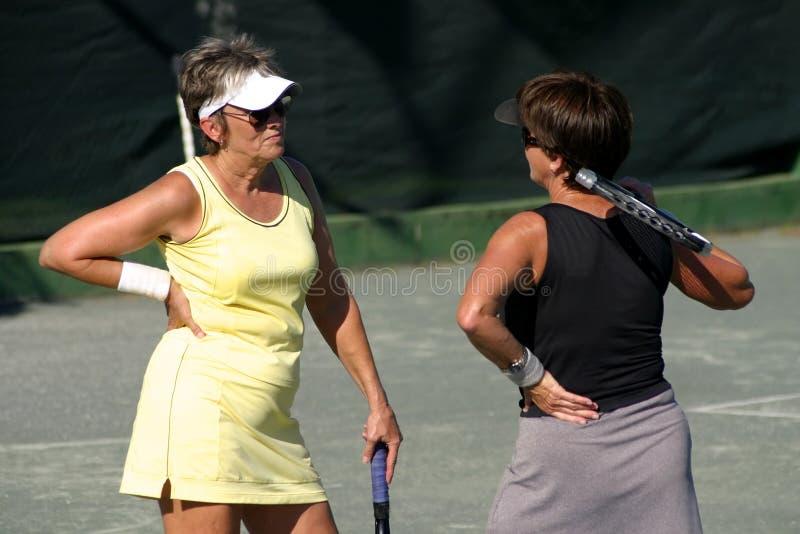 Tennisargument stockfotos