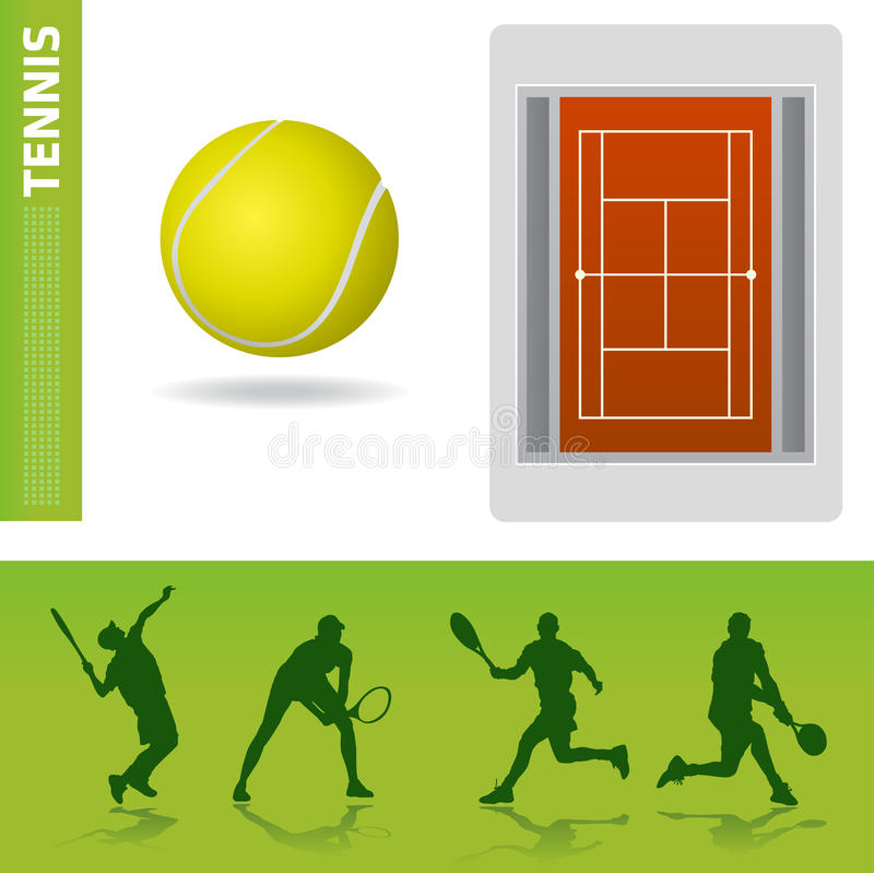 Tennisauslegungelemente vektor abbildung