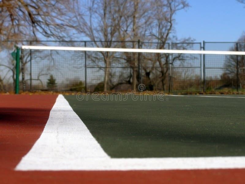 Tennisbaan royalty-vrije stock afbeeldingen