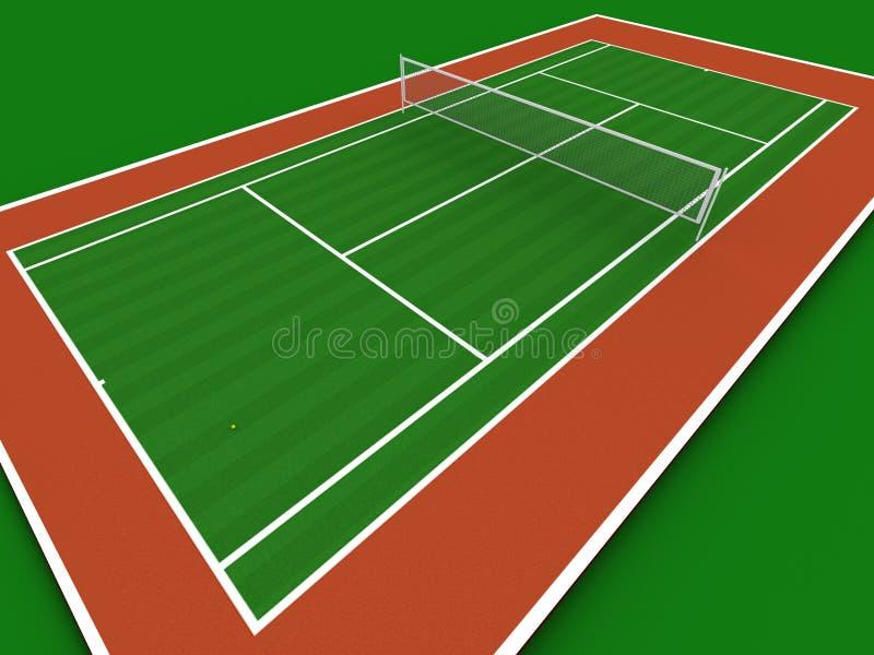 Tennisbaan vector illustratie