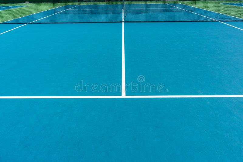 Tennisbaan in openlucht royalty-vrije stock afbeelding