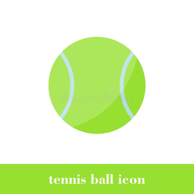 Tennisballikone Flache Art Ball stock abbildung