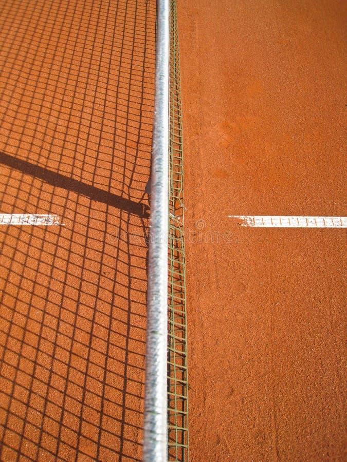 Tennisbanan Med Fodrar (72) Fotografering för Bildbyråer