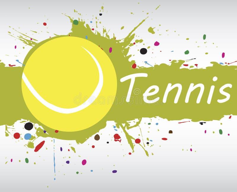 Tennisbanner Abstracte groene achtergrond met kleurrijke plons vector illustratie