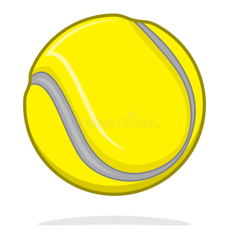 Tennisboll stock illustrationer