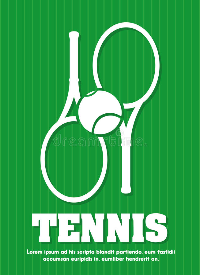 Tennisdesign royaltyfri illustrationer