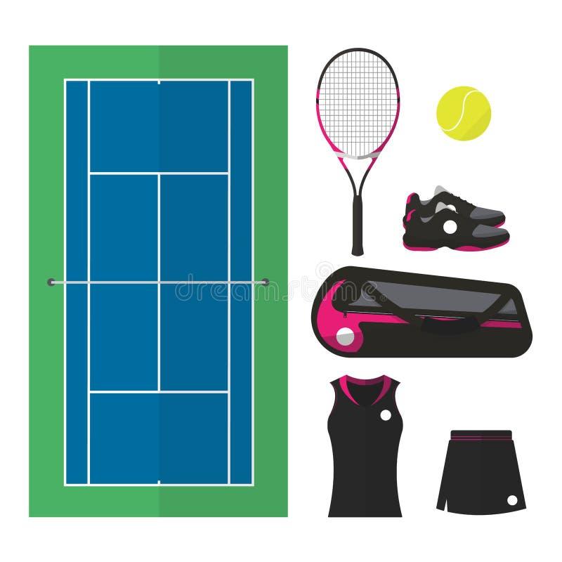 Tennisdingen 002 royalty-vrije illustratie