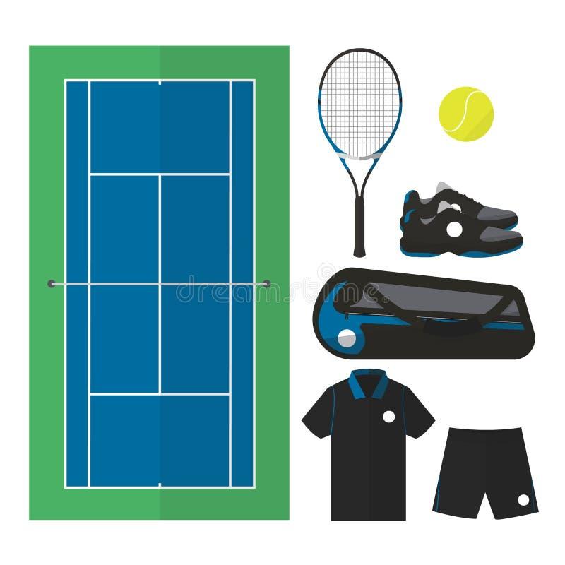 Tennisdingen 001 stock illustratie