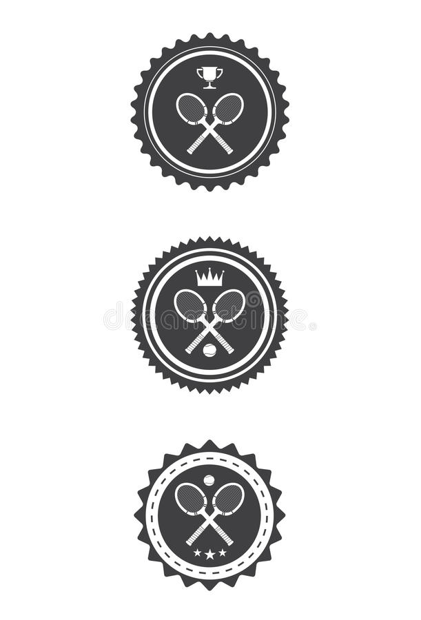 Tennisemblem vektor illustrationer