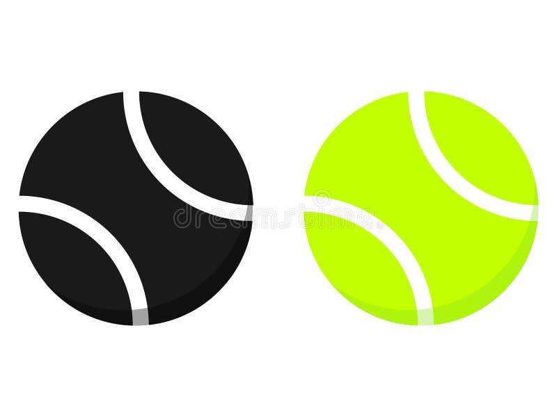 Tennisen klumpa ihop sig isolerat på den vita bakgrunden stock illustrationer