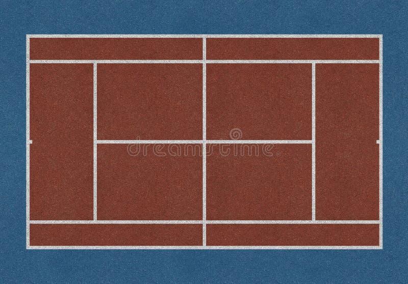 Tennisfeldbraun lizenzfreies stockfoto