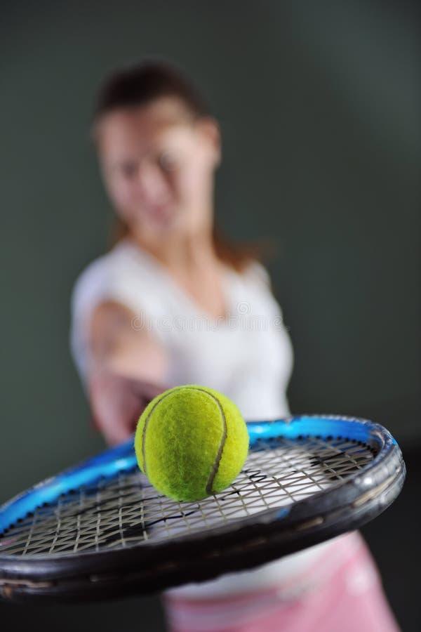 Tennisflicka arkivfoton