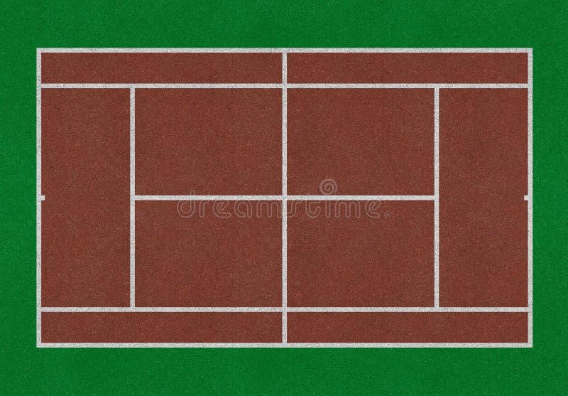 Tennisgebied royalty-vrije illustratie