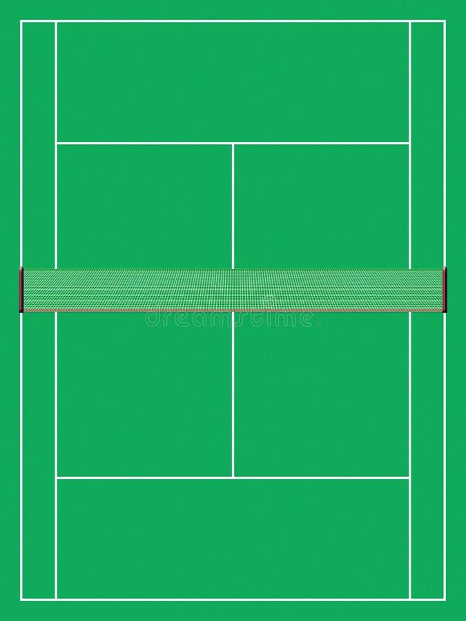 Tennisgericht lizenzfreie abbildung