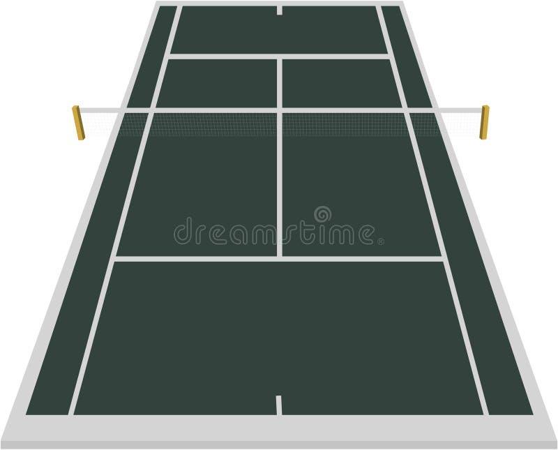Tennisgerichtsfeld vektor abbildung