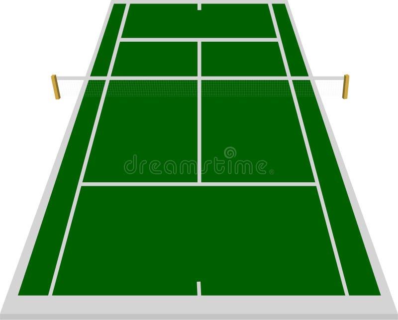Tennisgerichtsfeld im Grün stock abbildung