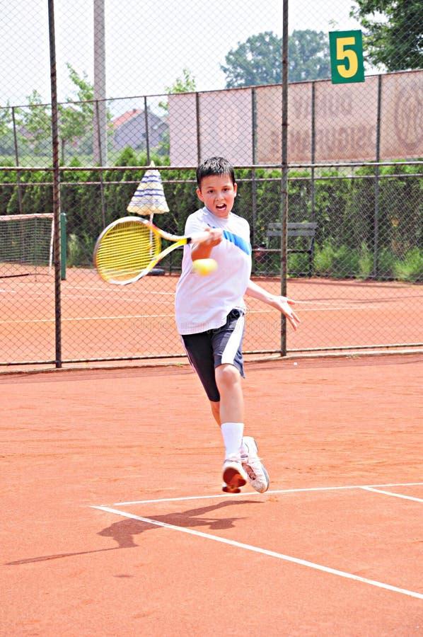 Tennisjunge stockbilder