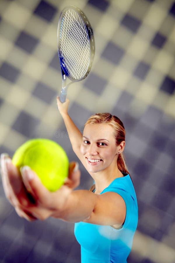 Tenniskampioen royalty-vrije stock foto's