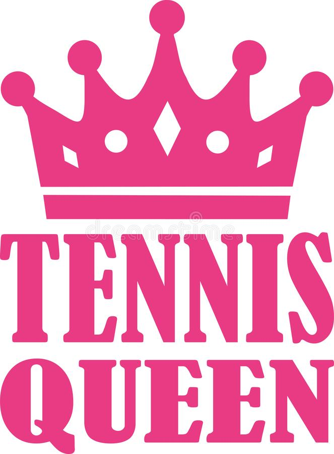 Tenniskoningin stock illustratie