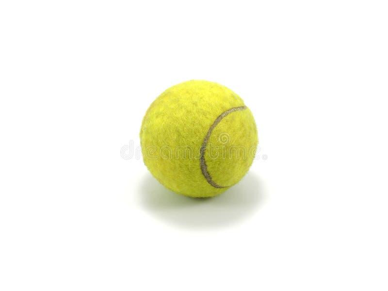 Tenniskugel auf weißem Hintergrund lizenzfreies stockbild
