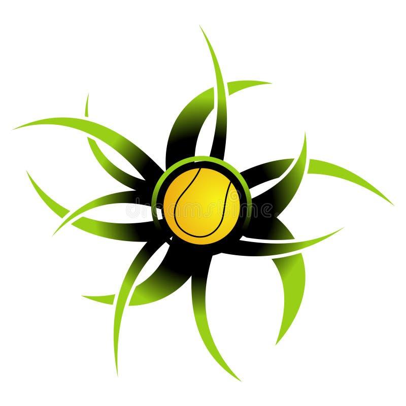 Tenniskugelikone lizenzfreie abbildung