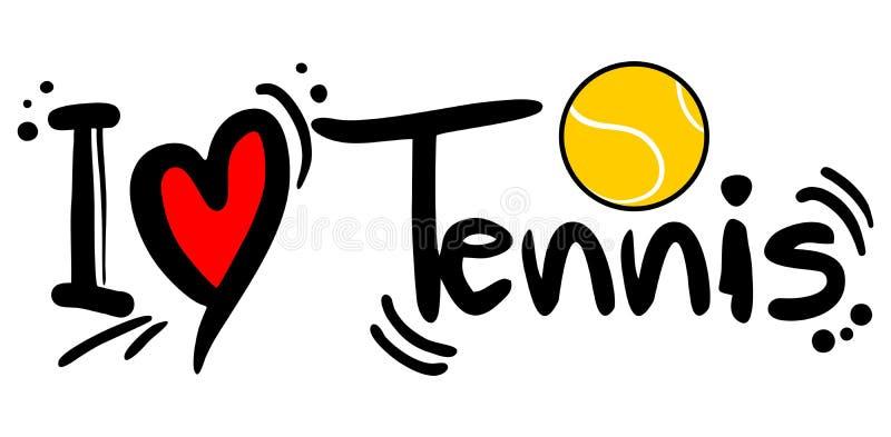 Tennisliefde stock illustratie