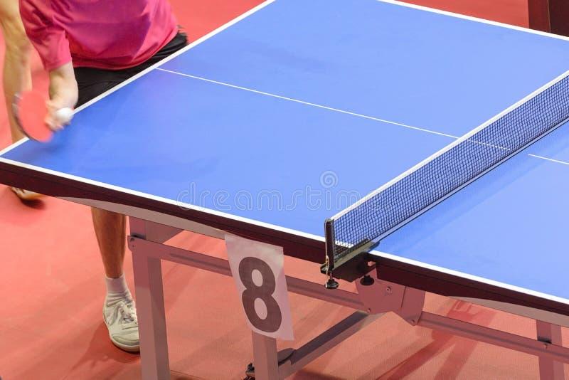 Tennislijst bij competities stock foto's