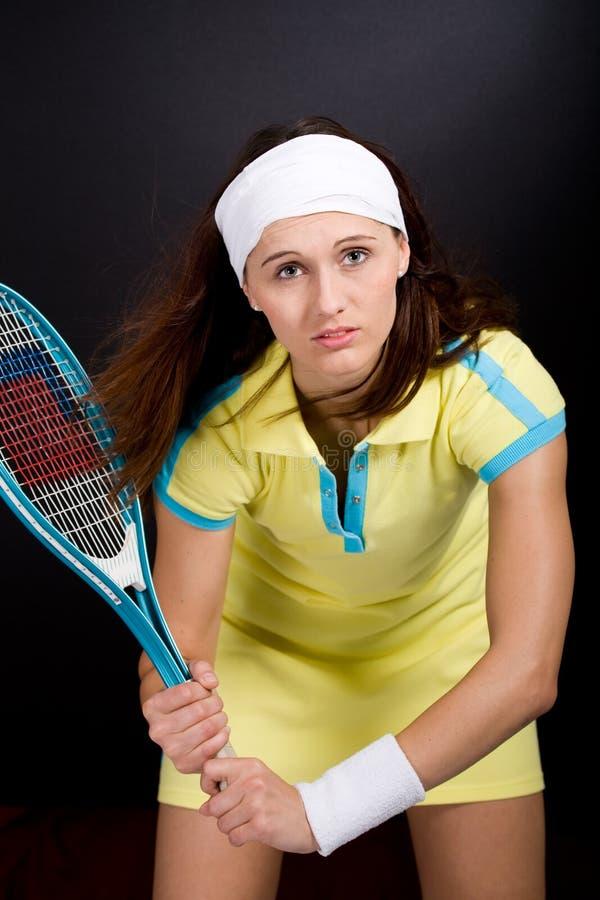 Tennismädchen stockbild