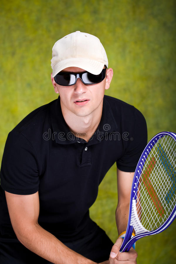 Tennismann stockbild
