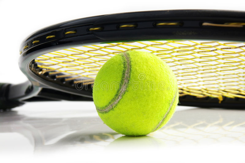 Tennismaterial lizenzfreie stockfotografie