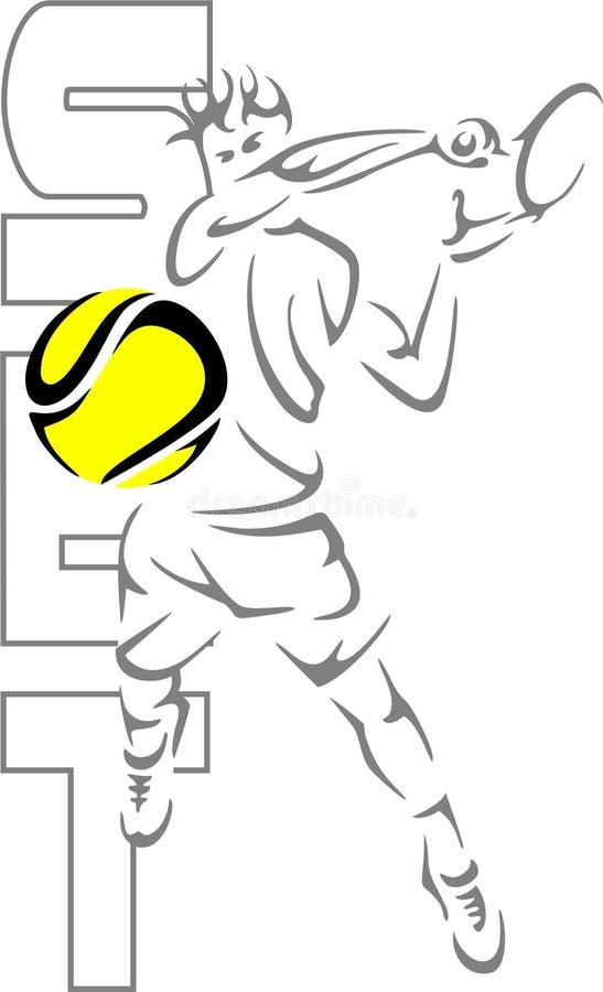 Tennismens vector illustratie