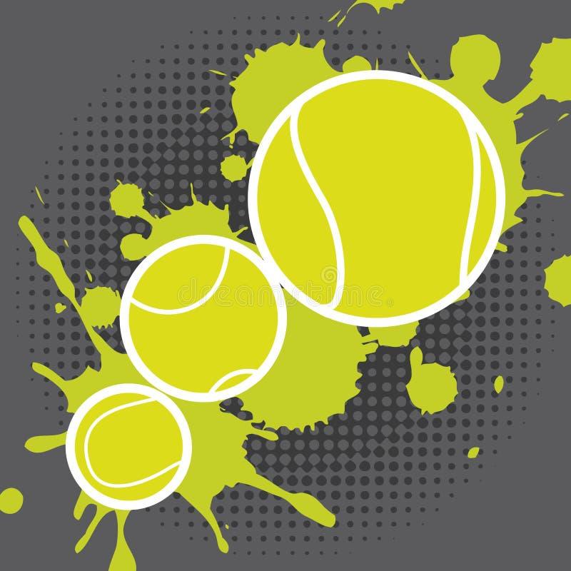Tennisontwerp royalty-vrije illustratie