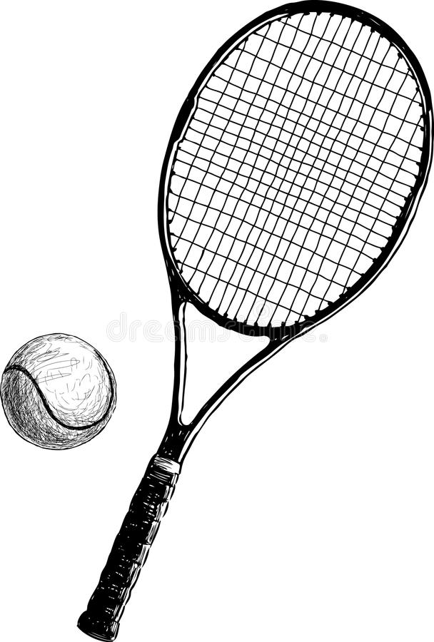Tennisracket royalty-vrije illustratie