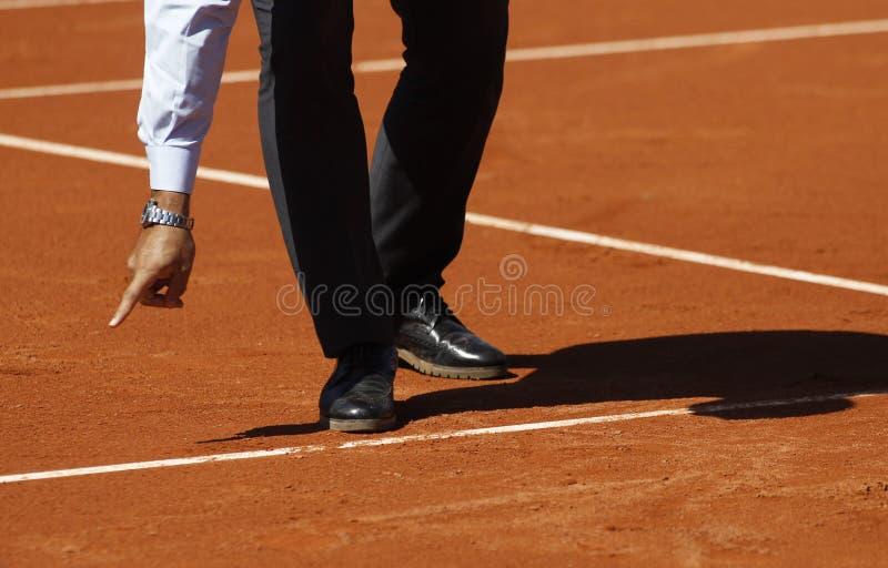 Tennisreferententscheidung lizenzfreie stockfotos