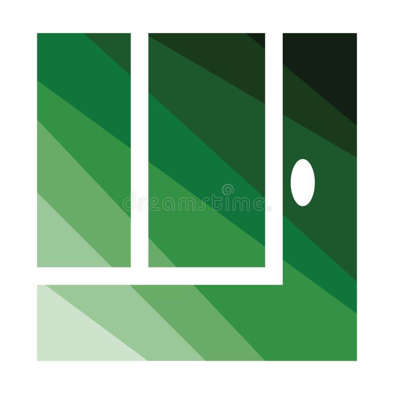 Tennisreplay bal uit pictogram stock illustratie