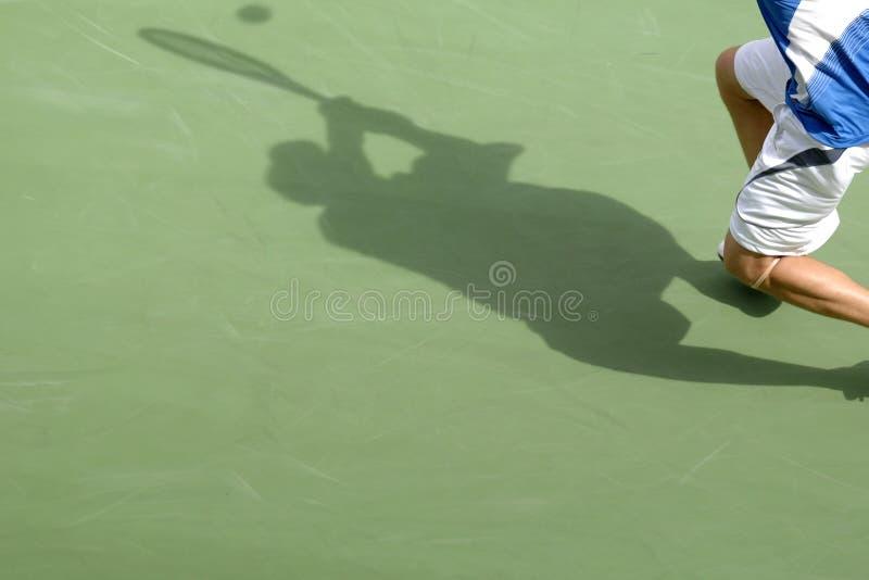 Tennisschatten 01 stockbilder
