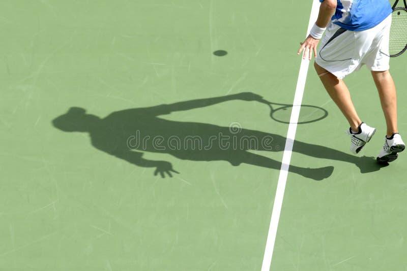 Tennisschatten 02 stockfotografie