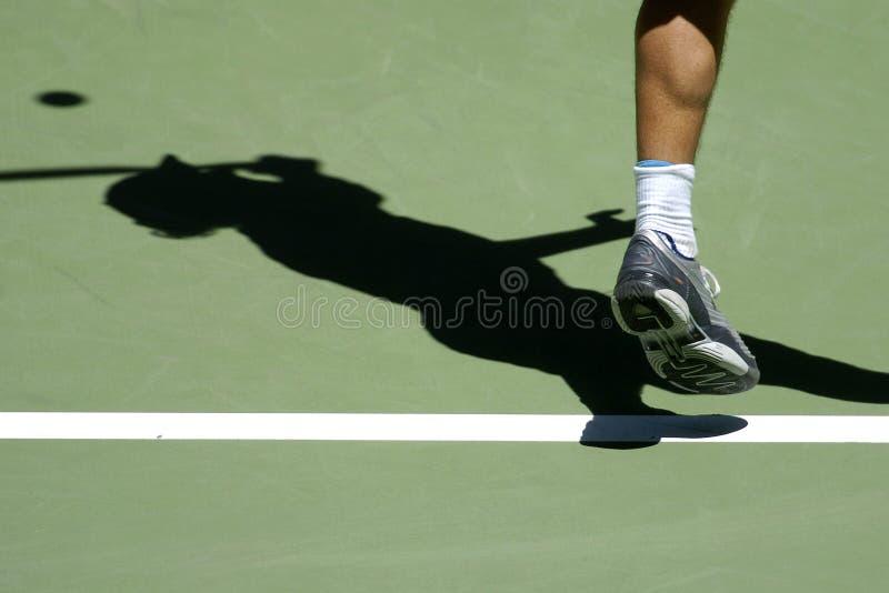 Tennisschatten 02a stockfoto