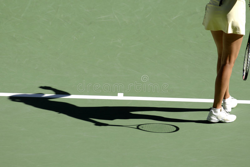 Tennisschatten 03 stockfotos