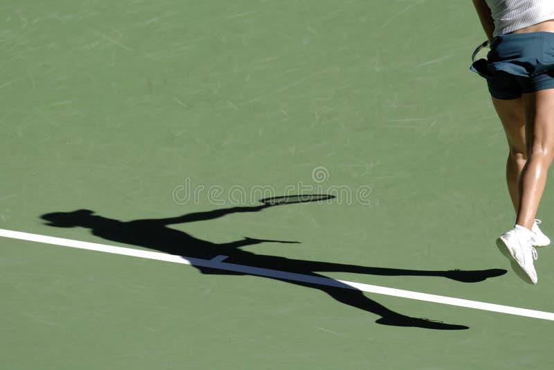 Tennisschatten 03 stockbilder