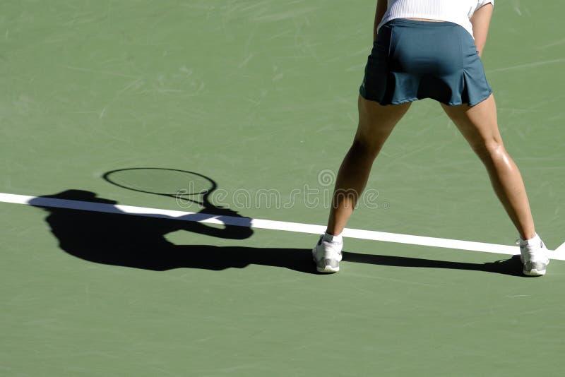 Tennisschatten 06 lizenzfreies stockbild